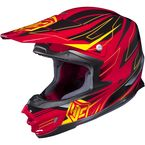 Red/Black/Yellow MC-1 FG-X Talon Helmet - 336-913