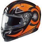 Orange/Black MC-7 RPHA-10 Buzzsaw Helmet - 1588-973