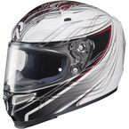 White/Black/Silver/Red MC-1 RPHA-10 Halcyon Helmet - 1586-916
