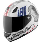 Matte Red/White/Blue SS700 Dogs Of War Helmet - 87-7615