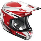 Red/Silver Verge Flex Helmet  - 0110-3826