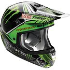 Black/Green/white Verge Pro Circuit Replica Helmet - 0110-3860