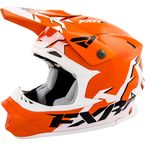 Orange/White Blade Helmet