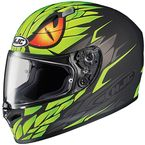 Black/Green FG-17 Mamba MC-4F Helmet  - 0817-1434-08