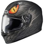Black/Charcoal FG-17 Mamba MC-5F Helmet  - 0817-1435-08