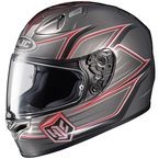 Grey/Red FG-17 Banshee MC-5 Helmet  - 0817-1505-06