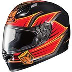 Black/Orange/Yellow FG-17 Banshee MC-6 Helmet  - 0817-1506-05