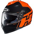 Orange/Black IS-17 Genesis MC-6 Helmet  - 0818-1106-08