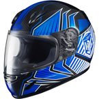Youth Blue/Black/White CL-Y Redline MC-2 Helmet  - 0819-1102-54