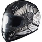 Youth Black/Charcoal/Silver CL-Y Redline MC-5 Helmet  - 0819-1105-56