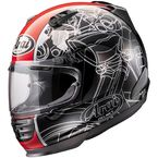 Black/White/Red Defiant Chopper Helmet  - DEFIANT