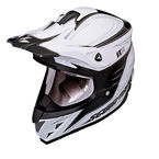 White/Black VX-34 Spike Helmet - 34-2055