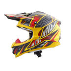 Yellow/Red/Silver Multi-Colored VX-34 Sprint Helmet - 34-7276