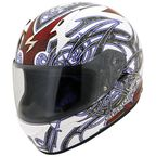White/Red Multi-Colored EXO-R410 Slinger Helmet  - 41-2014