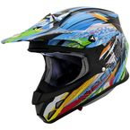 Blue/Black/Green Multi-Colored VX-R70 Fragment Helmet - 70-3035
