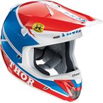 Blue/Red Verge Pro GP Helmet  - 0110-3961
