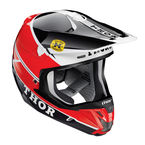 Red/Black Verge Pro GP Helmet - 0110-3973