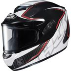 Black/White/Red CS-R2SN MC-1 Injector Helmet with Framed Dual Lens Shield - 219-916