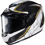Black/White/Yellow CS-R2SN MC-3 Injector Helmet with Framed Dual Lens Shield - 219-936