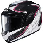 Black/White/Pink CS-R2SN MC-8 Injector Helmet with Framed Dual Lens Shield - 219-981