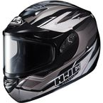 Silver/Black Multi CS-R2SN MC-5 Sawtooth Helmet with Framed Dual Lens Shield - 221-956