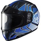 Youth Blue/Black/White CL-YSN MC-2 Redline Helmet with Framed Dual Lens Shield - 1119-1102-56