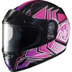 Youth Pink/Black/White CL-YSN MC-5 Redline Helmet with Framed Dual Lens Shield - 1119-1108-56