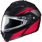 Black/Red/Silver IS-MAX 2 MC-1 Elemental Helmet w/Dual Lens Shield - 985-916