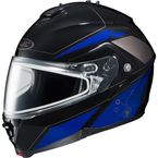 Black/Blue/Silver IS-MAX 2 MC-2 Elemental Helmet w/Dual Lens Shield - 985-926
