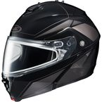 Black/Dark Silver/Silver IS-MAX 2 MC-5 Elemental Helmet w/Dual Lens Shield - 985-956