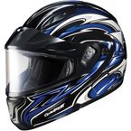 Black/Blue/White CL-MAXBTII SN MC-2 Atomic Helmet w/Framed Dual Lens Shield - 1145-1202-08