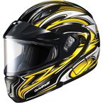 Black/Yellow/White CL-MAXBTII SN MC-3 Atomic Helmet w/Framed Dual Lens Shield - 1145-1203-04