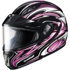 Black/Pink/White CL-MAXBTII SN MC-8 Atomic Helmet w/Framed Dual Lens Shield - 1145-1208-06