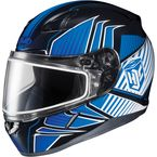 Blue/Black/White CL-17SN MC-2 Redline Helmet w/Frameless Dual Lens Shield - 1151-1102-05