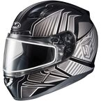 Black/Gray/Silver CL-17SN MC-5 Redline Helmet w/Frameless Dual Lens Shield - 1151-1105-06