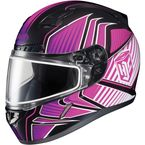 Black/Pink/White CL-17SN MC-8 Redline Helmet w/Frameless Dual Lens Shield - 1151-1108-05