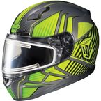 Gray/Hi-Viz/Black CL-17SN MC-3H Redline Helmet w/Frameless Dual Lens Shield - 1151-1113-06