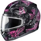 Black/Pink/White CL-17SN MC-8 Mystic Helmet w/Frameless Dual Lens Shield - 1151-1408-06