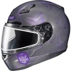Gray/Purple CL-17SN MC-11 Mystic Helmet w/Frameless Dual Lens Shield - 1151-1411-06