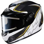 Black/White/Yellow CS-R2SN MC-3 Injector Helmet with Framed Electric Shield - 018-933