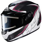 Black/White/Pink CS-R2SN MC-8 Injector Helmet with Framed Electric Shield - 018-981