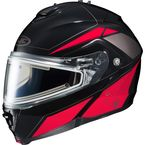Black/Red/Silver IS-MAX 2 MC-1 Elemental Helmet w/Electric Shield - 185-916