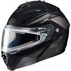 Black/Dark Silver/Silver IS-MAX 2 MC-5 Elemental Helmet w/Electric Shield - 185-956