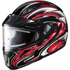 Black/Red/White CL-MAXBTII SN MC-1 Atomic Helmet w/Framed Electric Shield - 1245-1201-08