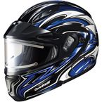 Black/Blue/White CL-MAXBTII SN MC-2 Atomic Helmet w/Framed Electric Shield - 1245-1202-05