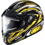 Black/Yellow/White CL-MAXBTII SN MC-3 Atomic Helmet w/Framed Electric Shield - 1245-1203-04
