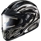 Black/Silver/White CL-MAXBTII SN MC-5 Atomic Helmet w/Framed Electric Shield - 1245-1205-08