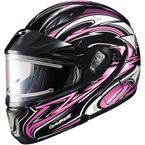 Black/Pink/White CL-MAXBTII SN MC-8 Atomic Helmet w/Framed Electric Shield - 1245-1208-06