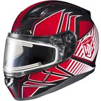 Red/Black/White CL-17SN MC-1 Redline Helmet w/Frameless Electric Shield - 1251-1101-08