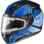Blue/Black/White CL-17SN MC-2 Redline Helmet w/Frameless Electric Shield - 1251-1102-08